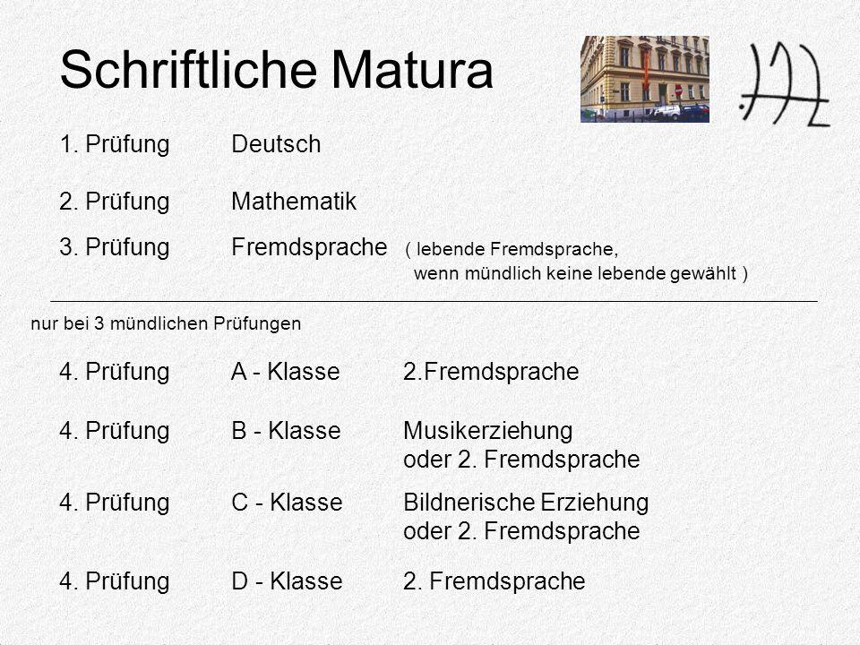 4. PrüfungA - Klasse2.Fremdsprache Schriftliche Matura 1.