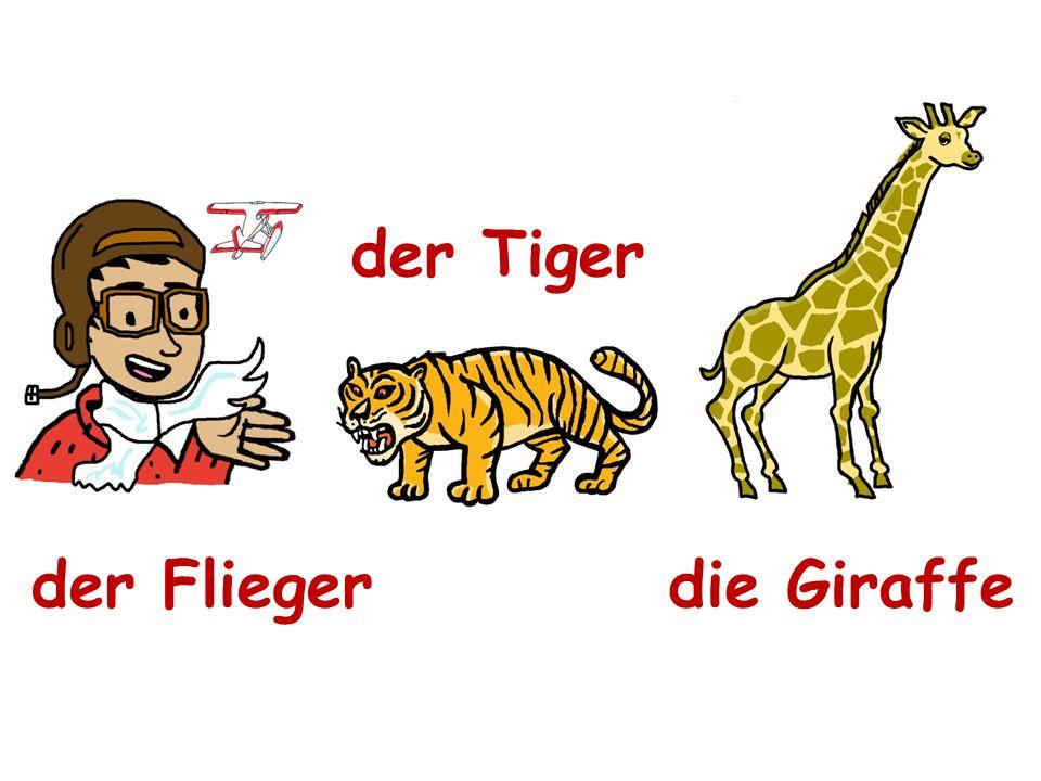 der Flieger der Tiger die Giraffe
