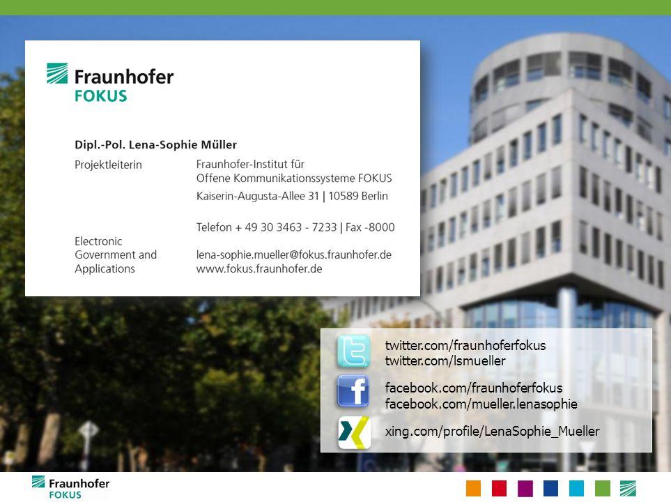 twitter.com/fraunhoferfokus twitter.com/lsmueller facebook.com/fraunhoferfokus facebook.com/mueller.lenasophie xing.com/profile/LenaSophie_Mueller