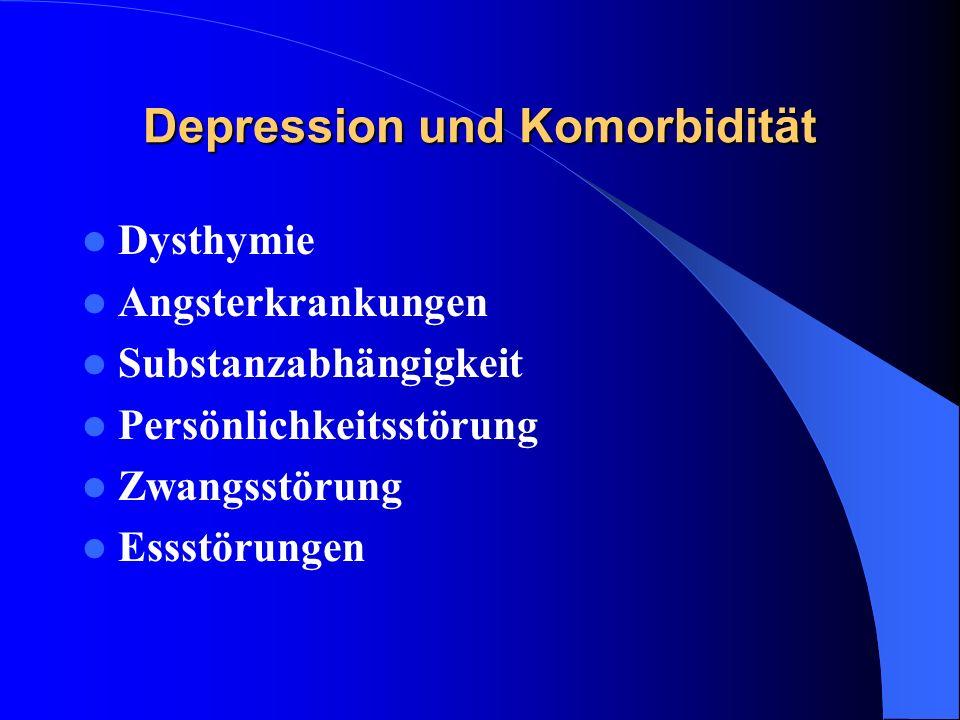 A meta-analysis of the effects of cognitive therapy in depressed patients: GLOAGUEN et al 1998 48 kontrollierte Studien 2765 Patienten mit unipolarer, nicht-psychotischer Depression (leicht oder mittelschwer) Ergebnisse: Kognitive Therapie(KT) einer Wartelistenkontrolle oder Placebo überlegen KT besser als Antidepressiva KT wirksamer als andere Psychotherapien ohne kognitive- oder Verhaltenskomponenten KT in der Prophylaxe wirksamer als Antidepressiva