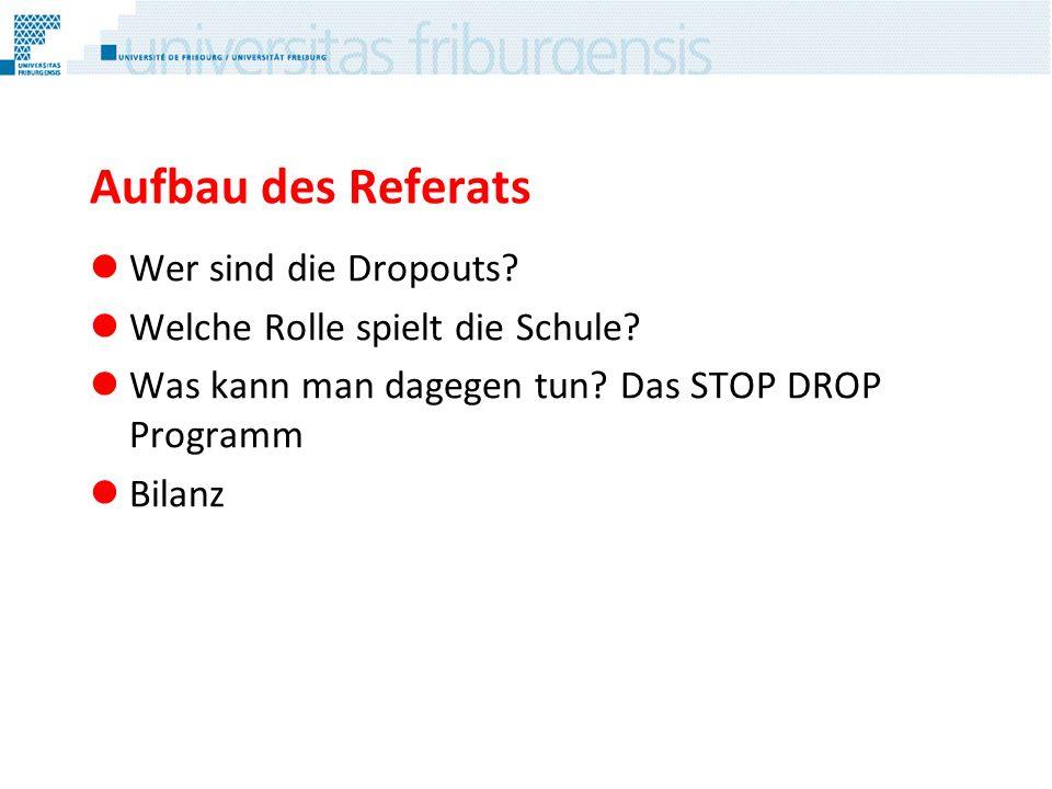 Wer sind die Dropouts?