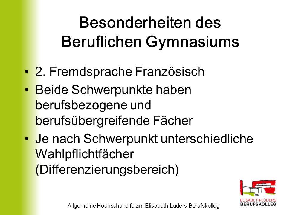 Berufliches Gymnasium Erziehungswissenschaften Allgemeine Hochschulreife am Elisabeth-Lüders-Berufskolleg