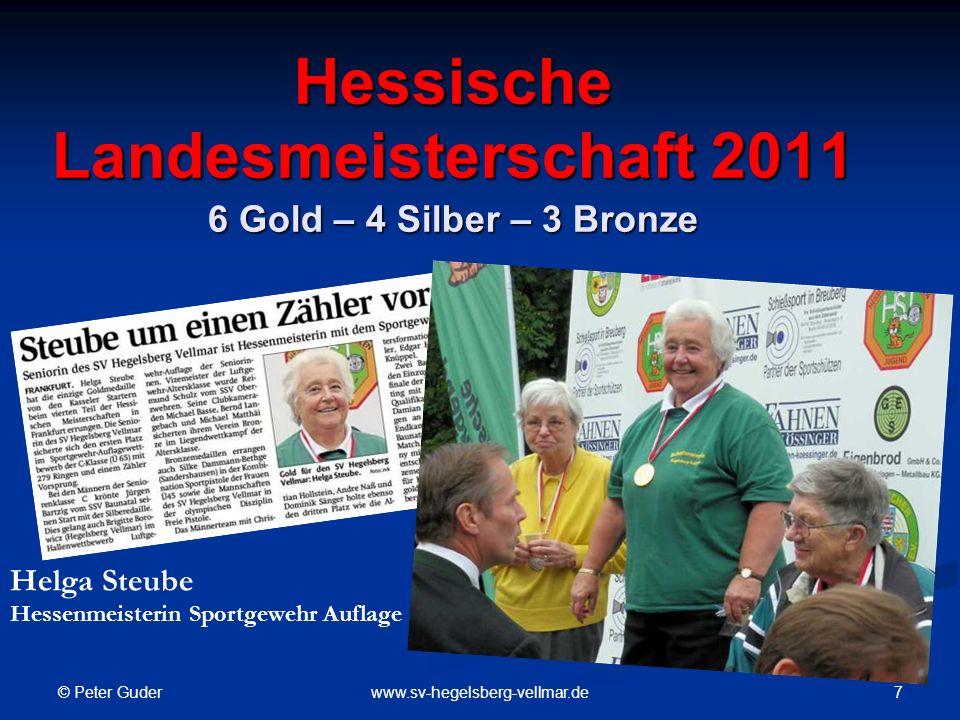 © Peter Guder 18www.sv-hegelsberg-vellmar.de Besuch bei den Tschechischen Freunden vom SV Konuvice Empfang der Hegelsberger Schützen bei der Bürgermeisterin