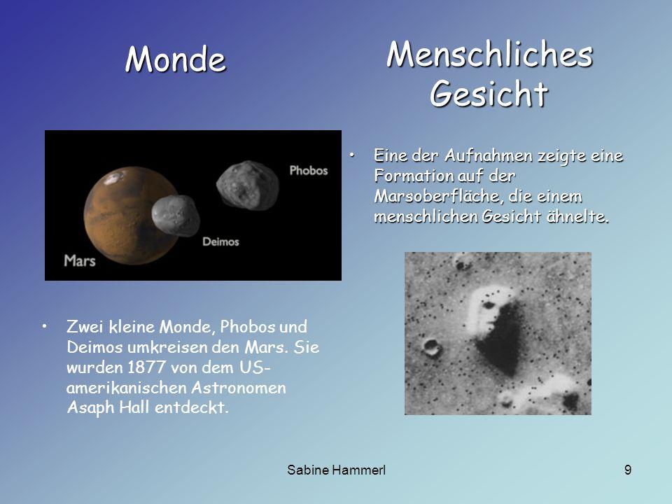 Sabine Hammerl10 Links http://de.wikipedia.org/wiki/mars_(Planet) http://Lexikon.astronomie.info/mars/index.html http://www.neunplaneten.de/nineplanets/mars.html http://www.raumfahrer.net/astronomie/planetmars/h ome.shtml http://www.physikfuerkids.de/stern/sonnesys/mars/