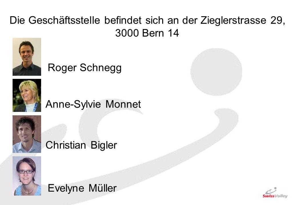 Die Geschäftsstelle befindet sich an der Zieglerstrasse 29, 3000 Bern 14 Roger Schnegg Anne-Sylvie Monnet Christian Bigler Evelyne Müller