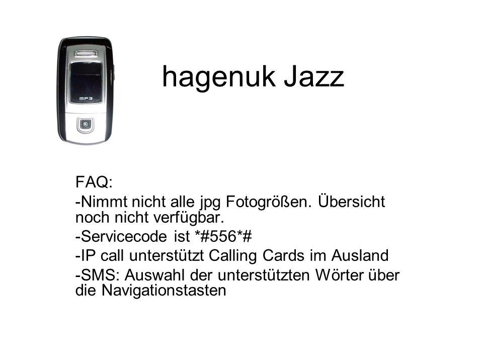 hagenuk Jazz FAQ: -Nimmt nicht alle jpg Fotogrößen.