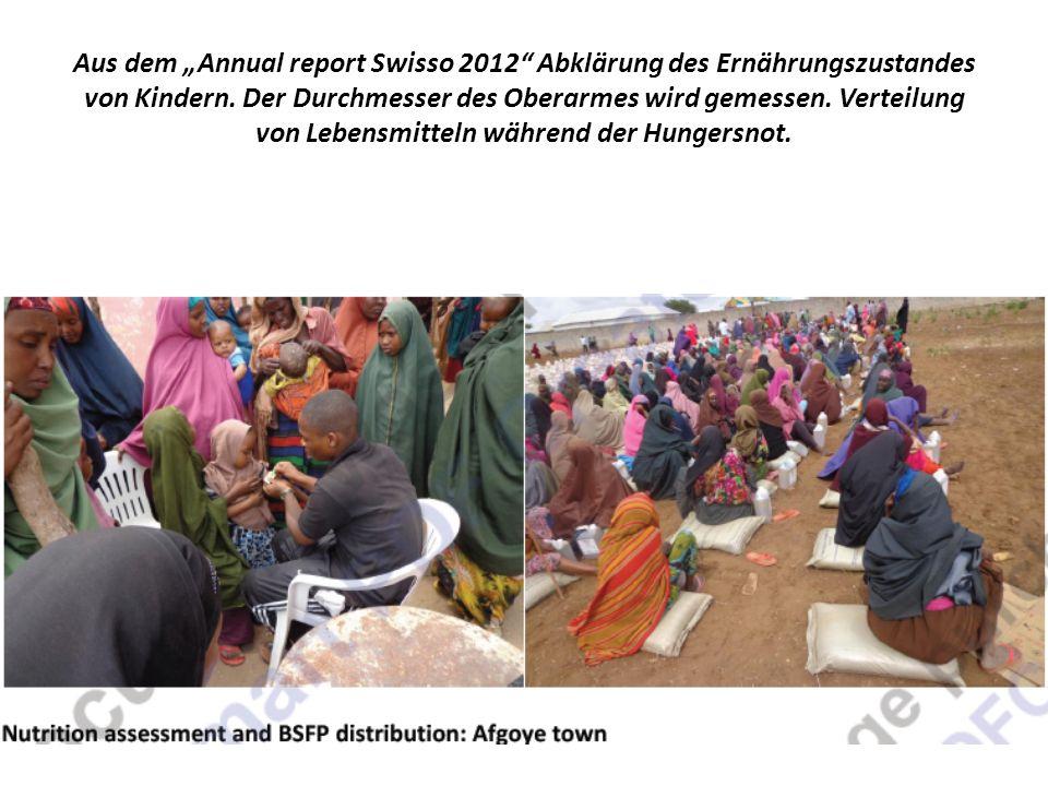 Aus dem Annual report Swisso 2012 Abklärung des Ernährungszustandes von Kindern.