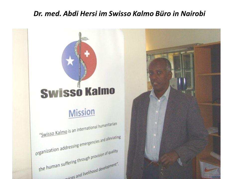 Dr. med. Abdi Hersi im Swisso Kalmo Büro in Nairobi