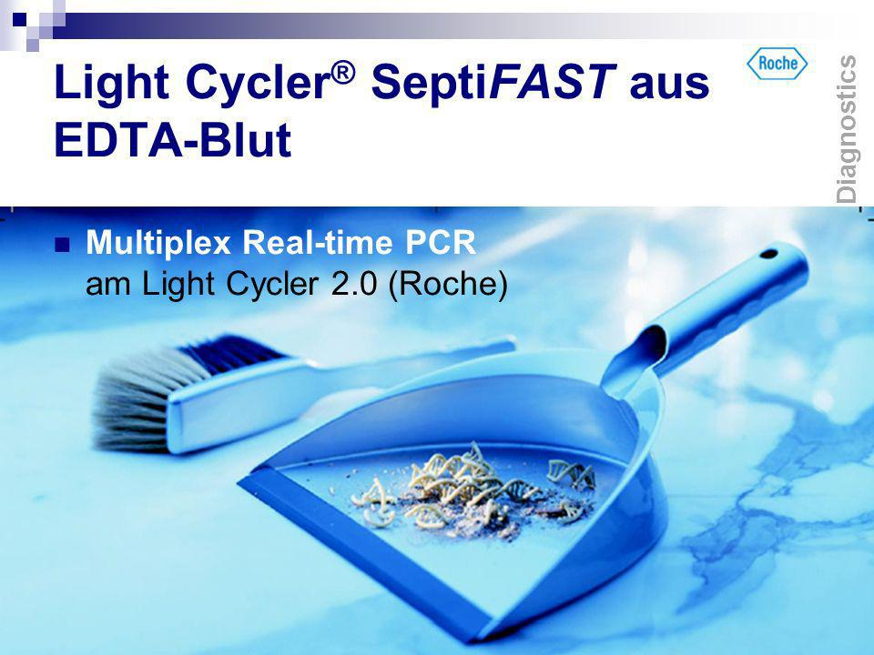 Light Cycler ® SeptiFAST aus EDTA-Blut Multiplex Real-time PCR am Light Cycler 2.0 (Roche) Diagnostics