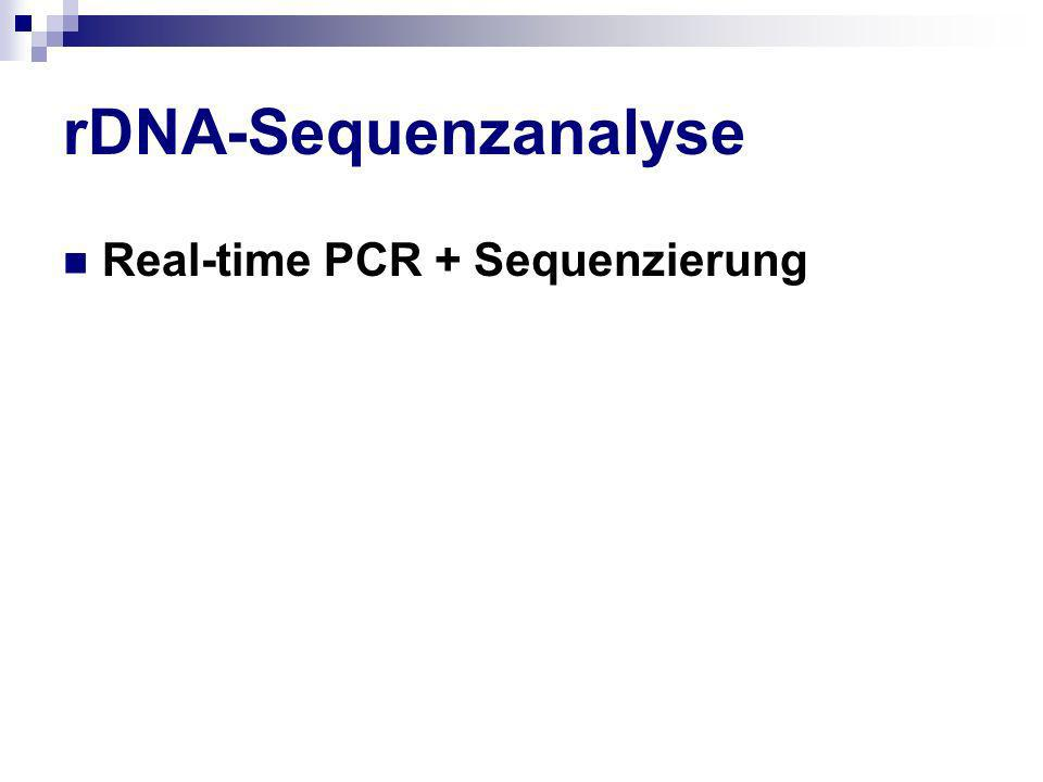 rDNA-Sequenzanalyse Real-time PCR + Sequenzierung