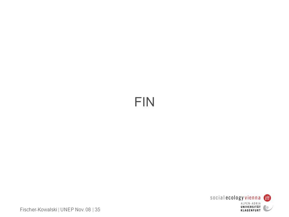 Fischer-Kowalski | UNEP Nov. 08 | 35 FIN