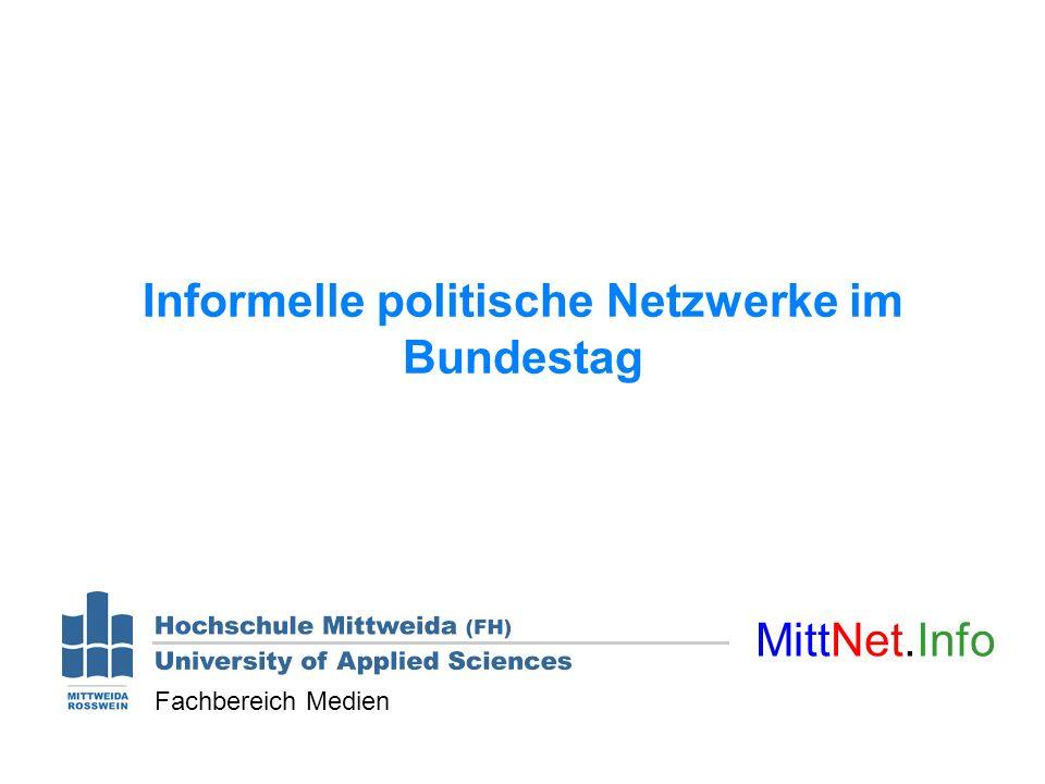 Informelle politische Netzwerke im Bundestag MittNet.Info Fachbereich Medien