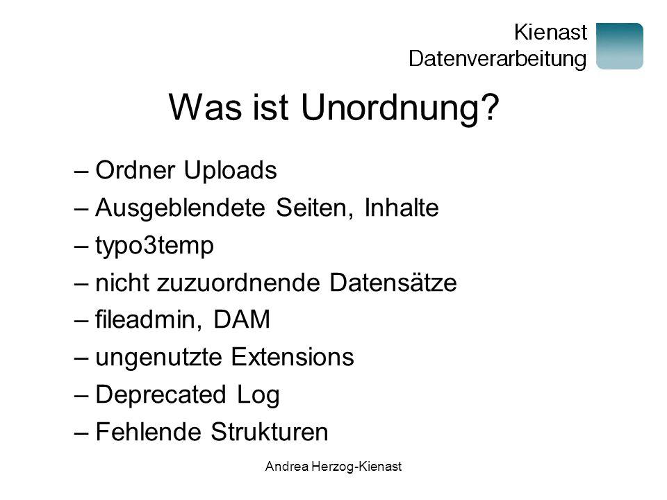 Andrea Herzog-Kienast Was ist Unordnung.