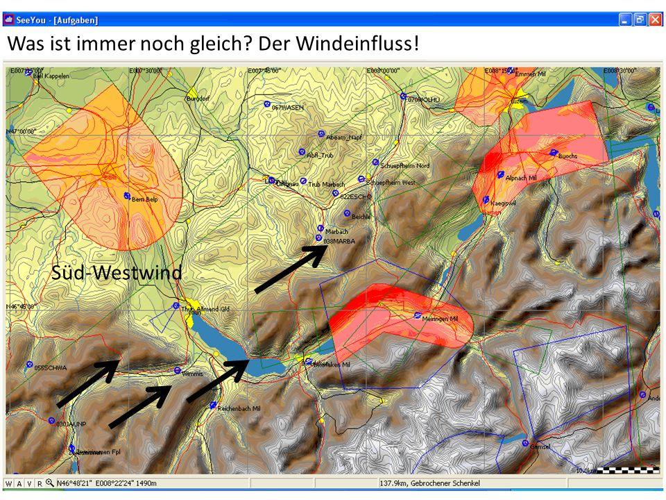 Süd-Westwind Was ist immer noch gleich Der Windeinfluss!