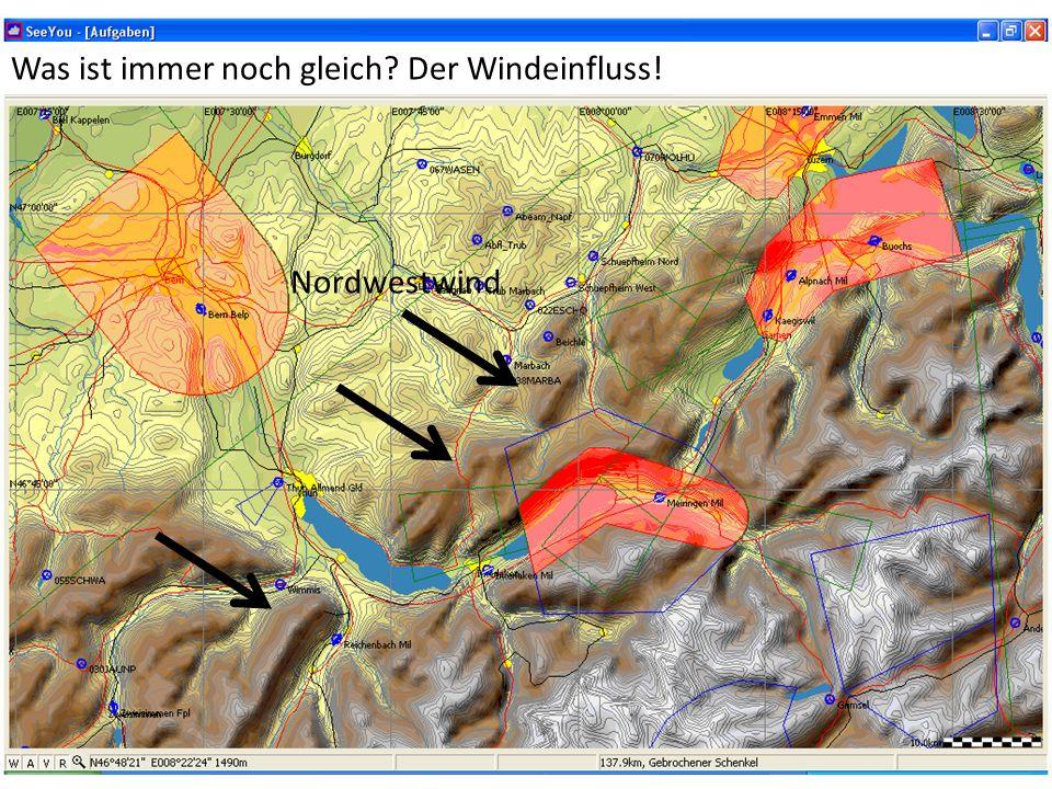 Nordwestwind Was ist immer noch gleich? Der Windeinfluss!