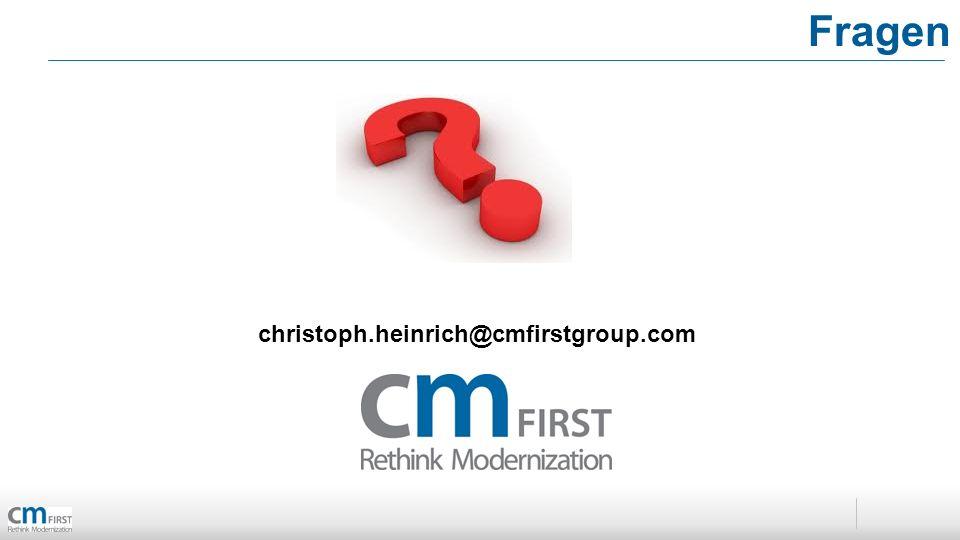Fragen christoph.heinrich@cmfirstgroup.com
