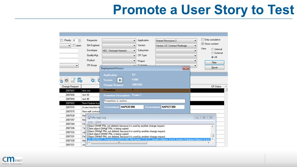Promote a User Story to Test
