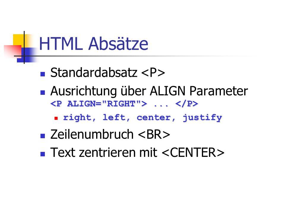 HTML Tabellen Tabellenüberschrift Tabellenüberschrift Spalte1-1 Spalte1-2 Spalte1-1 Spalte1-2 Spalte2-1 Spalte2-2 Spalte2-1 Spalte2-2 über 2 Spalten über 2 Spalten </TABLE> ROWSPAN = n für mehrere Zeilen Kopfzellen Kopfzellen