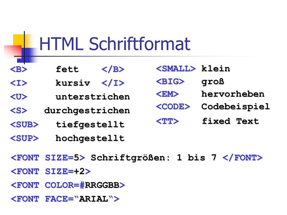 HTML Absätze Überschrift 1 Ü berschrift 6 Standardabsatz...