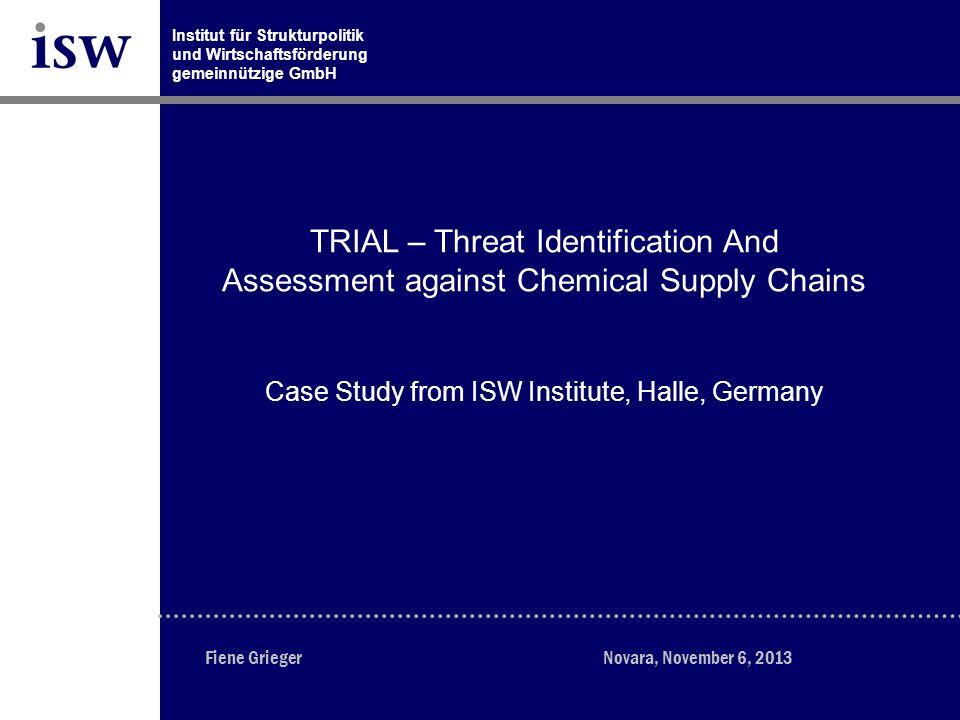 Institut für Strukturpolitik und Wirtschaftsförderung gemeinnützige Gesellschaft mbH Seite 32 www.isw-institut.de November 06, 2013 INTERREG IVB Central Europe Application filed 14.