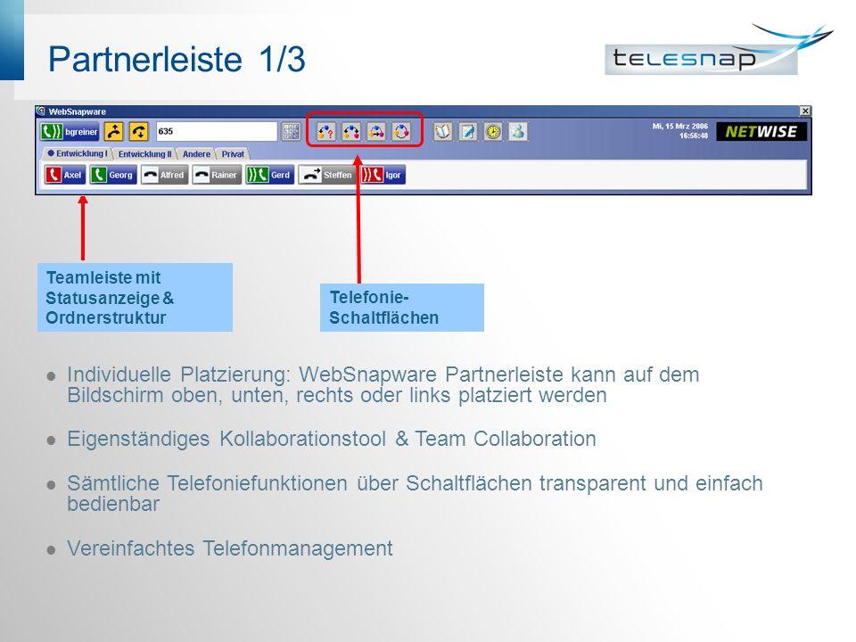 PM CD 2/3 Anzeige des Agentenstatus über WebSnapware Der Apparat ist an der ACD angemeldet und befindet sich gegenwärtig in Pause.