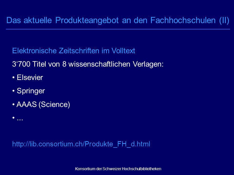 Elektronische Zeitschriften im Volltext 3700 Titel von 8 wissenschaftlichen Verlagen: Elsevier Springer AAAS (Science)...