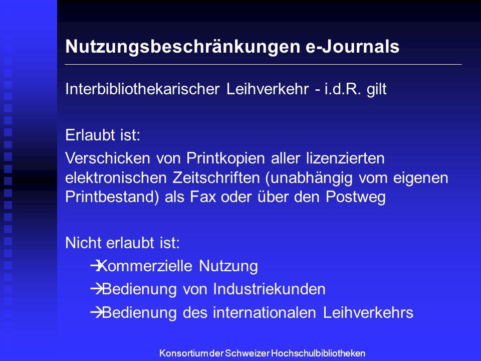 Server Client Site Internet 192.136.97.3 192.136.97.4 192.136.97.5 http://wos.consortium.ch/ 176.212.114.37 Zugriffskontrolle via IP-Adressen Konsortium der Schweizer Hochschulbibliotheken