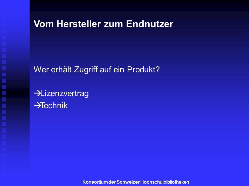 Konsortium der Schweizer Hochschulbibliotheken Die Einführung eines Produktes
