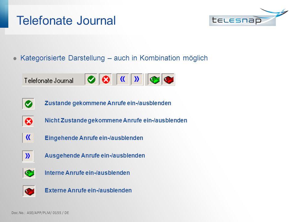 ETB Integriertes Telefonbuch Doc.No.: ASE/APP/PLM/ 0155 / DE