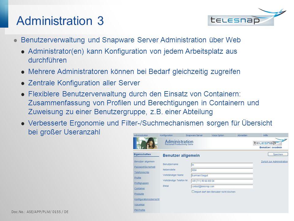 Integrations- möglichkeiten Lotus Notes, MsOutlook, Groupwise Doc.No.: ASE/APP/PLM/ 0155 / DE