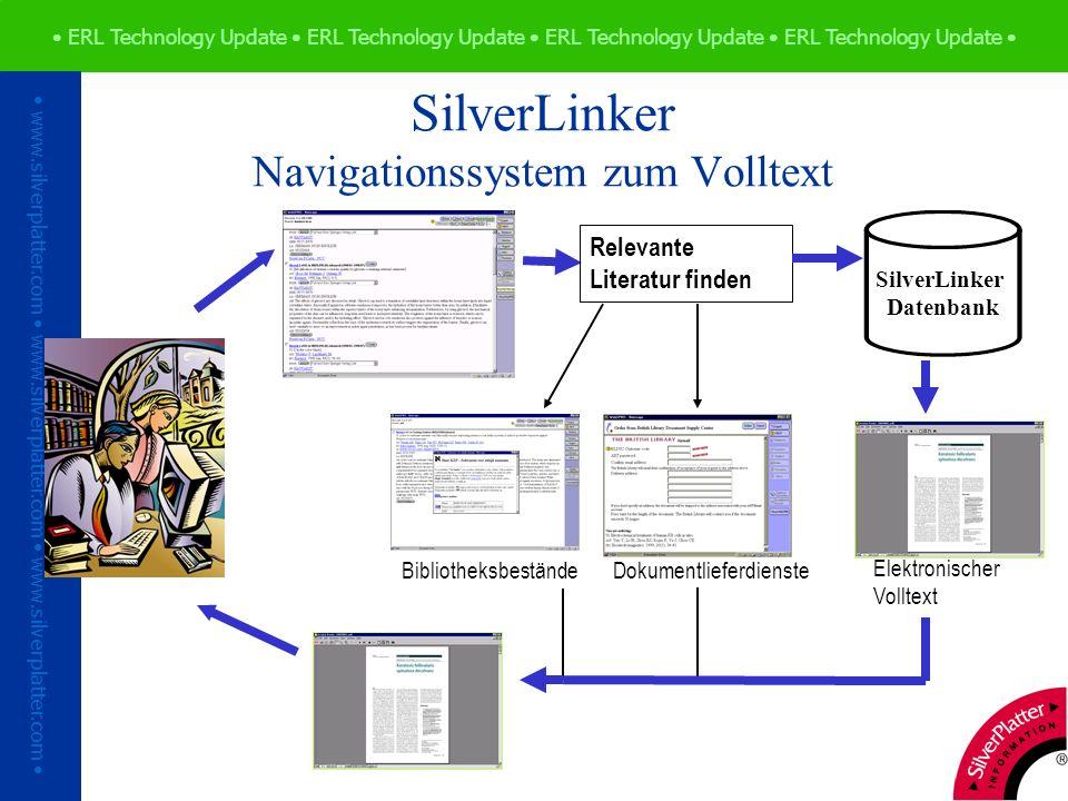 ERL Technology Update ERL Technology Update ERL Technology Update ERL Technology Update www.silverplatter.com www.silverplatter.com www.silverplatter.com Vielen Dank!
