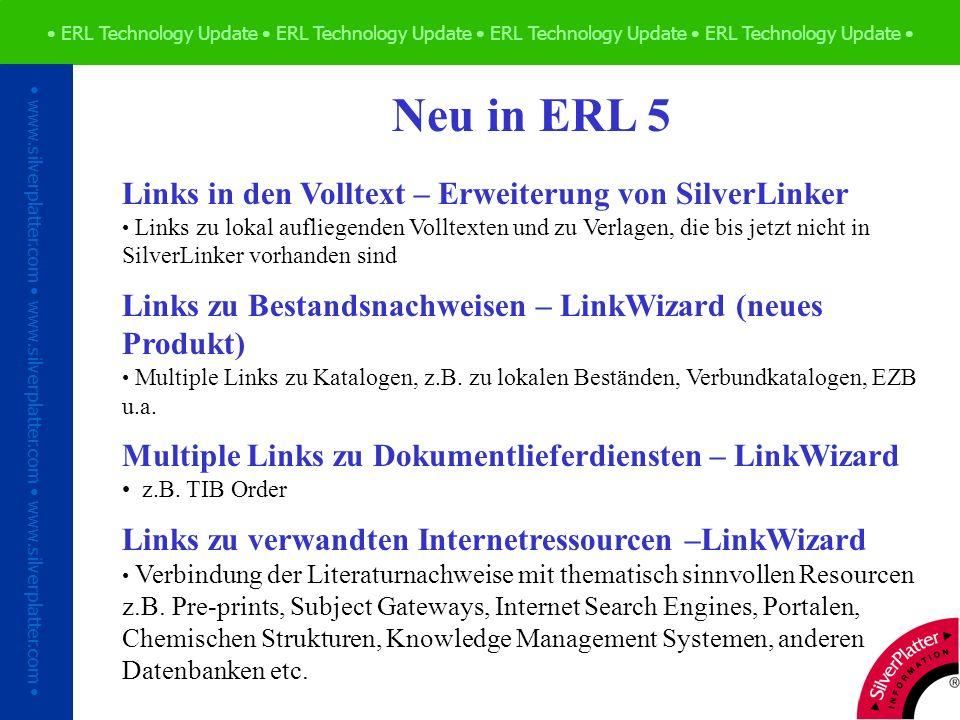 ERL Technology Update ERL Technology Update ERL Technology Update ERL Technology Update www.silverplatter.com www.silverplatter.com www.silverplatter.com