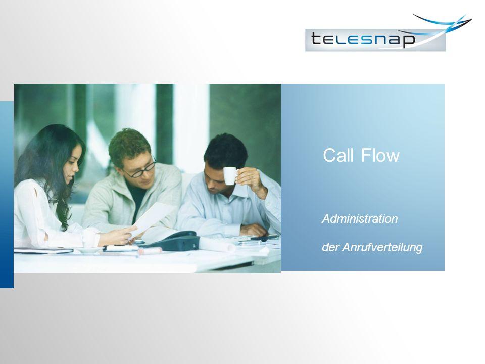 Call Flow Administration der Anrufverteilung