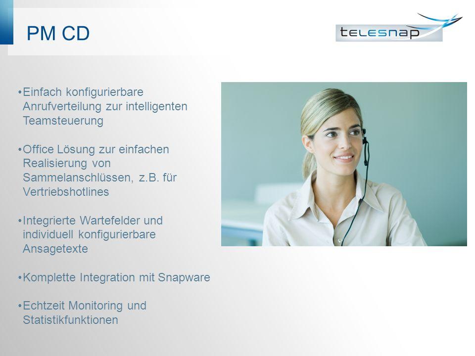 PM CD Einfach konfigurierbare Anrufverteilung zur intelligenten Teamsteuerung Office Lösung zur einfachen Realisierung von Sammelanschlüssen, z.B.