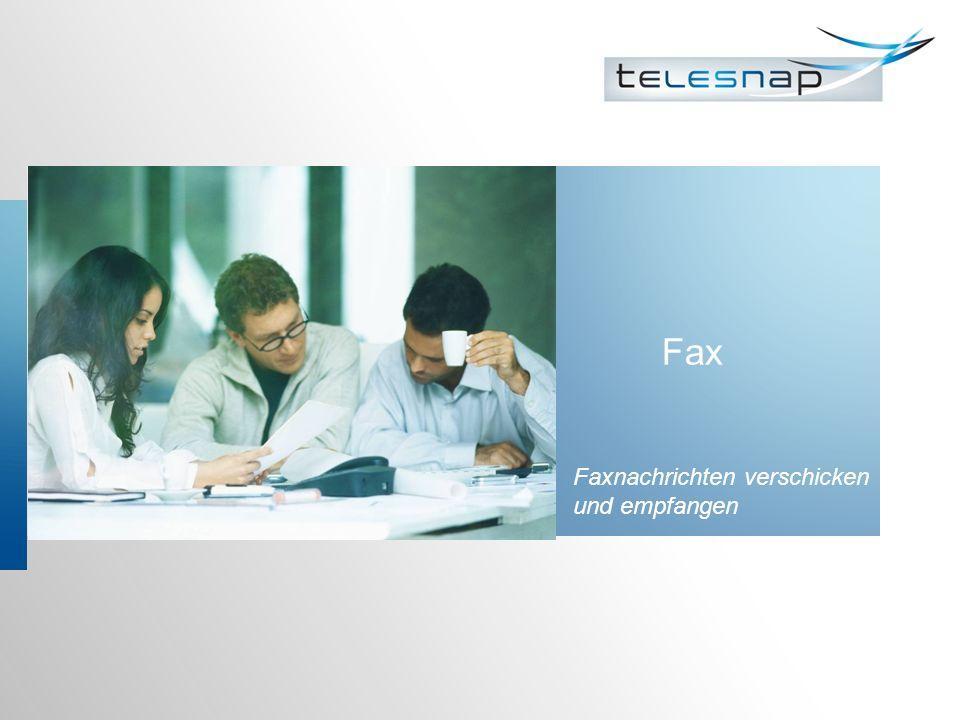 Fax Faxnachrichten verschicken und empfangen