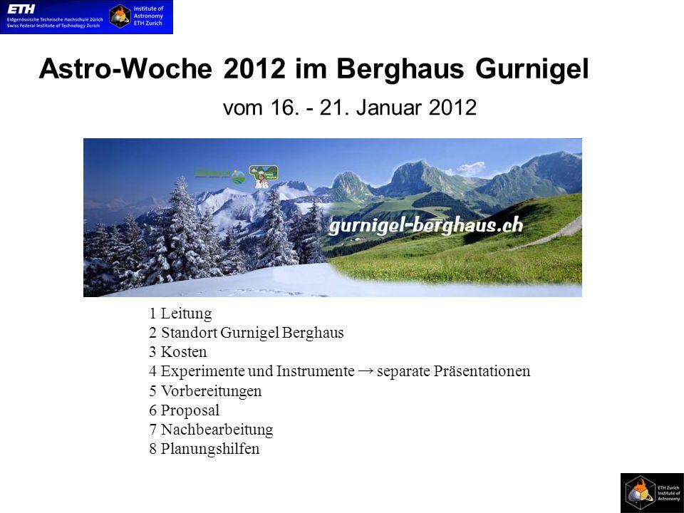 Astro-Woche 2012 im Berghaus Gurnigel vom 16. - 21.