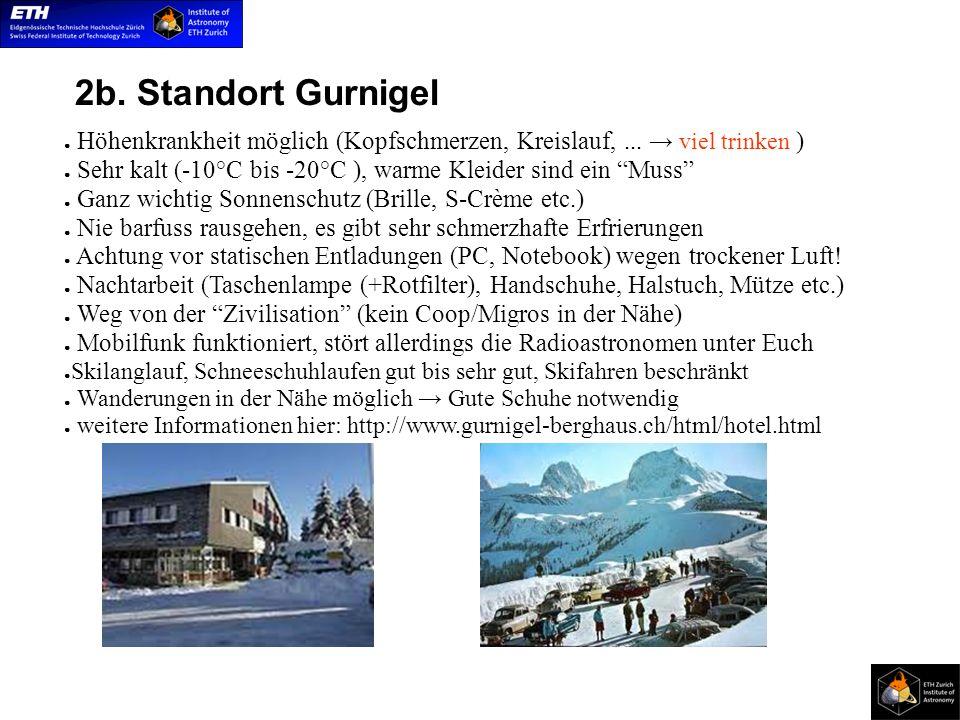 2b. Standort Gurnigel Höhenkrankheit möglich (Kopfschmerzen, Kreislauf,...