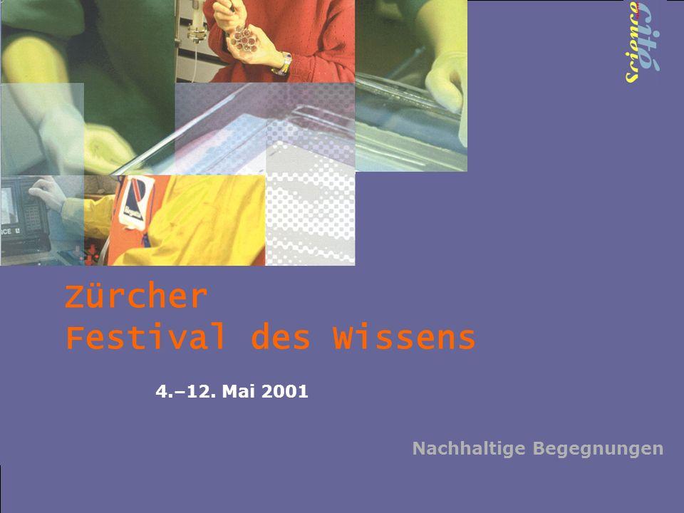 Zürcher Festival des Wissens 4.–12. Mai 2001 Nachhaltige Begegnungen