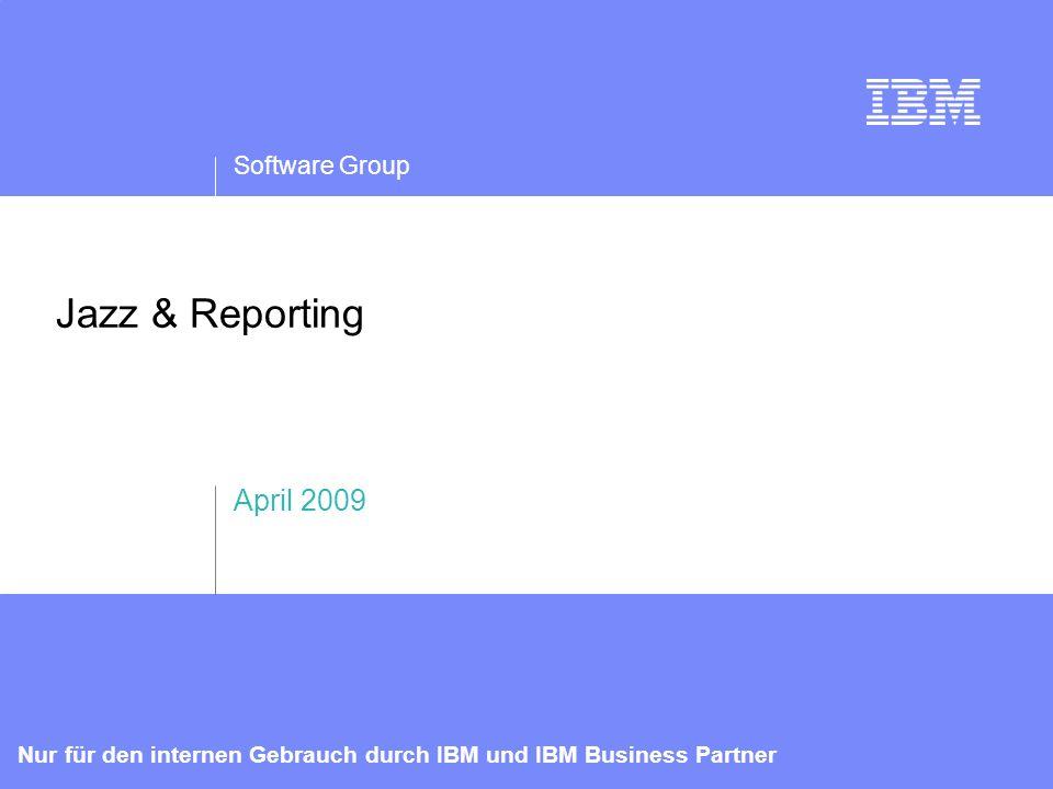 IBM Software Group   Rational-Software 12 Nur für den internen Gebrauch durch IBM und IBM Business Partner Einblicke in Echtzeit in Programme, Projekte und die Ressourcennutzung Transparenz von Teams und Projekten für die kontinuierliche, kontextabhängige Zusammenarbeit Zusammenarbeiten Berichten Automatisierung von nicht kreativen Aufgaben mit automatisierten Prozessen und Workflows Automatisieren Wesentliche Merkmale der Jazz Foundation Theoretisches und praktisches Wissen mit einer Umgebung ausbauen, die die Kompetenz von Einzelnen und Teams entwickelt