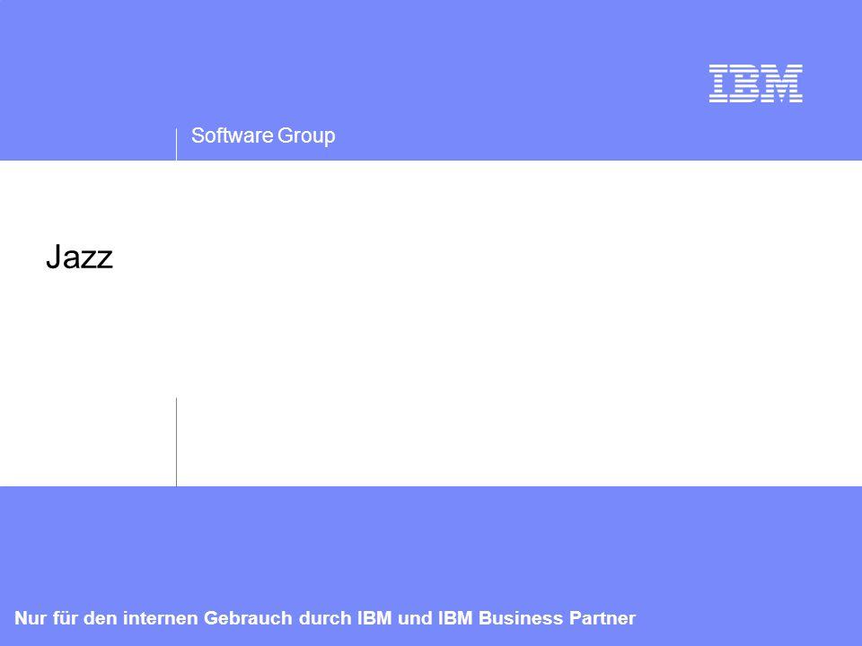 IBM Software Group   Rational-Software 13 Nur für den internen Gebrauch durch IBM und IBM Business Partner Blackbox-Zugriff auf Ressourcen URLs im Internetstil für Ressourcen Einheitliche Elemente für die Integration der Lightweight User Interface Hinzufügen von RESTful-Schnittstellen zum bestehenden Produkt Gemeinsam genutzter Speicher Einheitliche Sicherheit/Berechtigungen Prozessintegration Integration erweiterter Benutzerschnittstellen Gemeinsam genutzte webbasierte Benutzerschnittstelle Einheitliche Berechtigungen Einheitliche Anmeldung und gemeinsam genutzte Administration Integrierter Index-, Such- und Abfrageservice Tage bis Wochen Monate bis Jahre Wochen bis Monate NEU ODER FÜR EINEN ANDEREN ZWECK BESTIMMT Einfache Integration TRADITIONELL J2EE- PORTIERUNG Lose verbundene Integration der Daten des gesamten Lebenszyklus Gemeinsam genutzte, nahtlose Integration durch Internettechnologien Unsichtbare Tools mit uneingeschränkten Interaktionen Bandbreite des geschäftlichen Nutzens Integrationsarchitektur – So viel Sie wollen/brauchen
