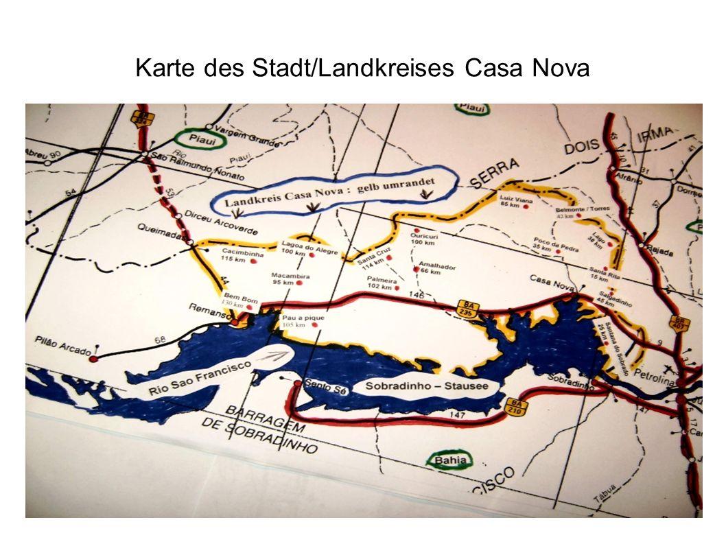 Karte des Stadt/Landkreises Casa Nova