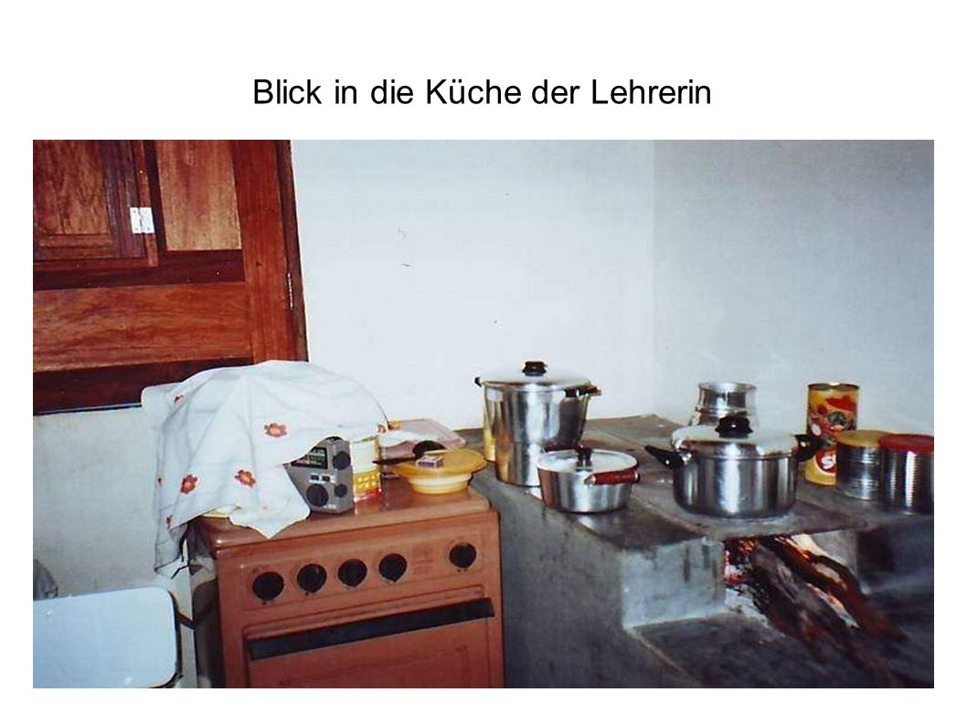Blick in die Küche der Lehrerin