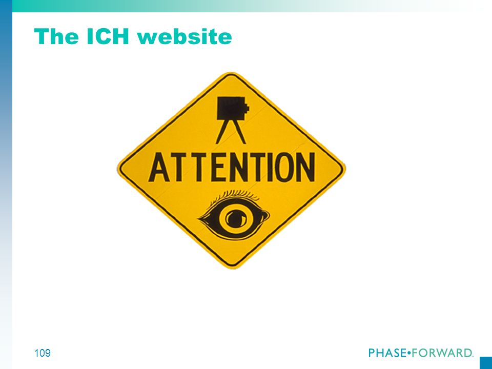 109 The ICH website