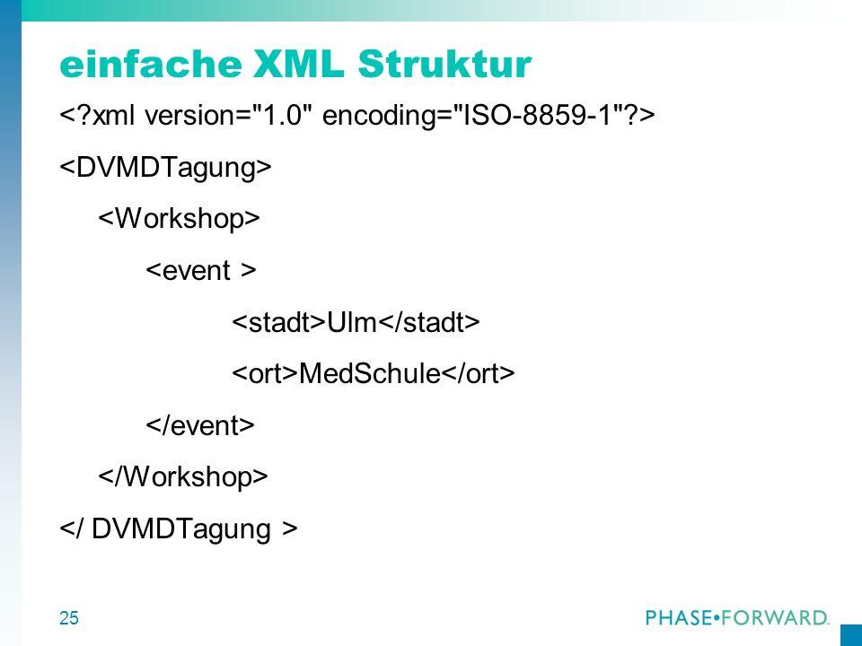 25 einfache XML Struktur Ulm MedSchule