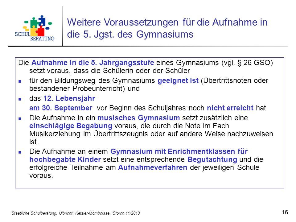 Staatliche Schulberatung, Ulbricht, Ketzler-Momboisse, Storch 11/2013 17 Die 5.