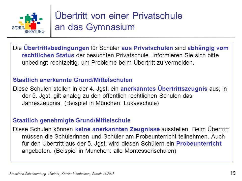 Staatliche Schulberatung, Ulbricht, Ketzler-Momboisse, Storch 11/2013 20 Probezeit und Elternwille Was bedeutet Elternwille beim Beratungsgespräch.