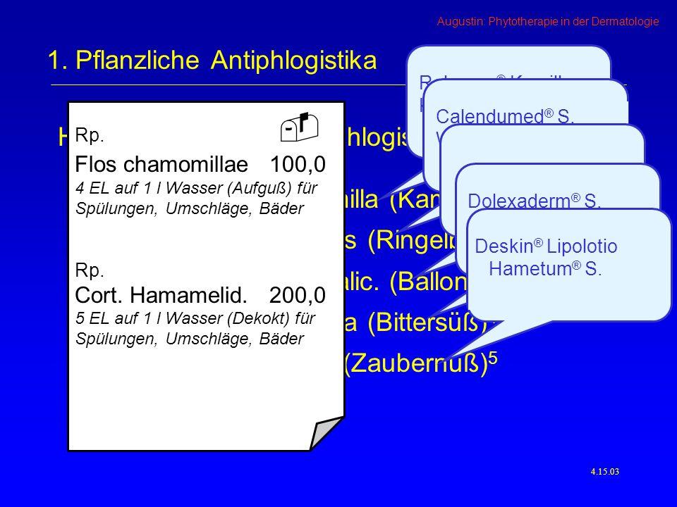 Augustin: Phytotherapie in der Dermatologie 4.15.03 1.