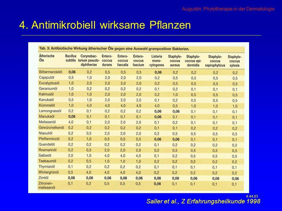 Augustin: Phytotherapie in der Dermatologie 4.44.03 4.