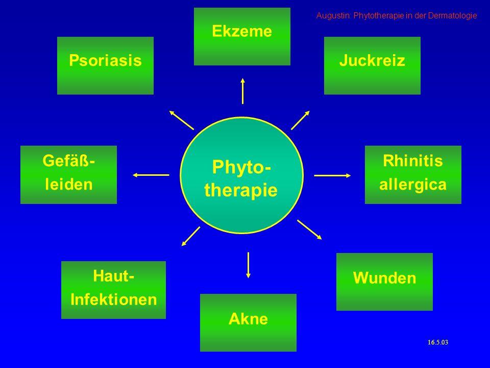 Augustin: Phytotherapie in der Dermatologie Phytotherapie bei Psoriasis - Mahonia aquifolium 4.66.03 (Augustin et al.