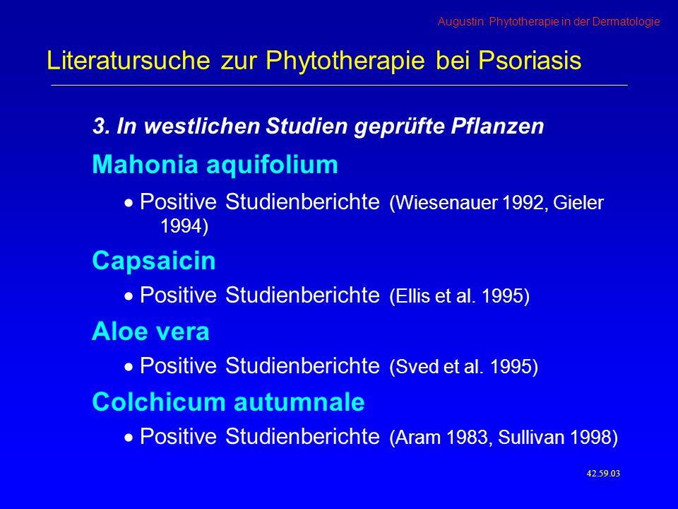 Augustin: Phytotherapie in der Dermatologie 3.
